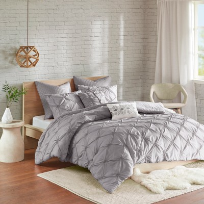 Gray Stella Embroidered Comforter Set (Full/Queen)7pc