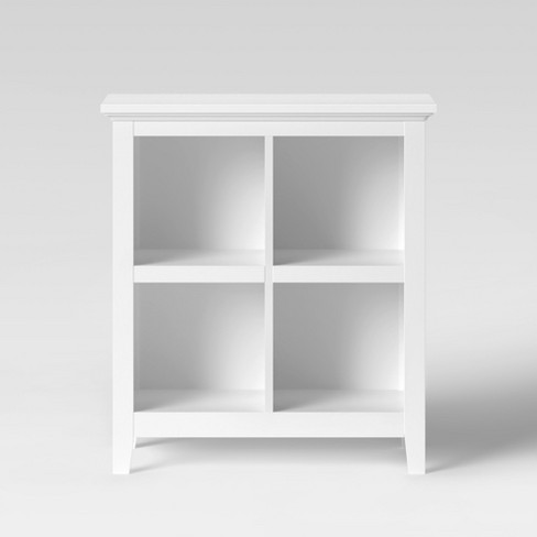 "37.2"" Carson 4 Bin Organizer Bookcase White - Threshold™ - image 1 of 4"