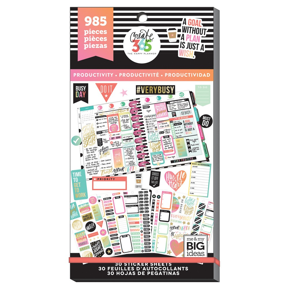 Me & My Big Ideas Planner Stickers 985ct, Productivity