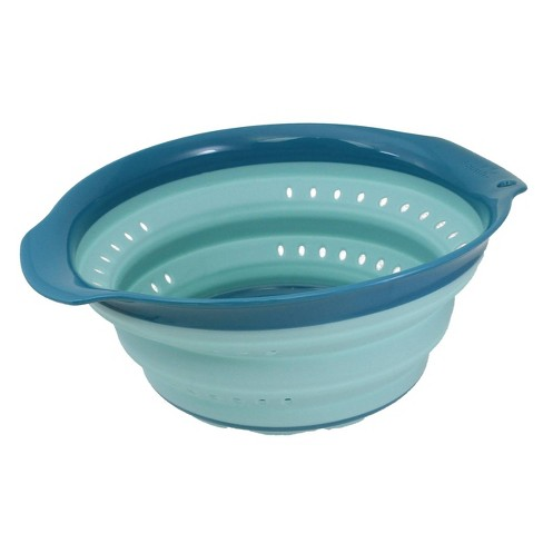 Squish 4qt Plastic Collapsible Colander Teal - image 1 of 4