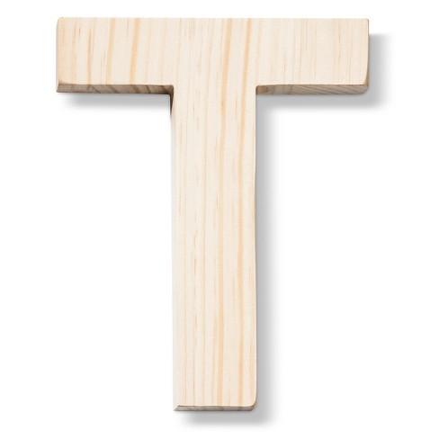 Hand Made Modern   Wood Letter Large   T : Target