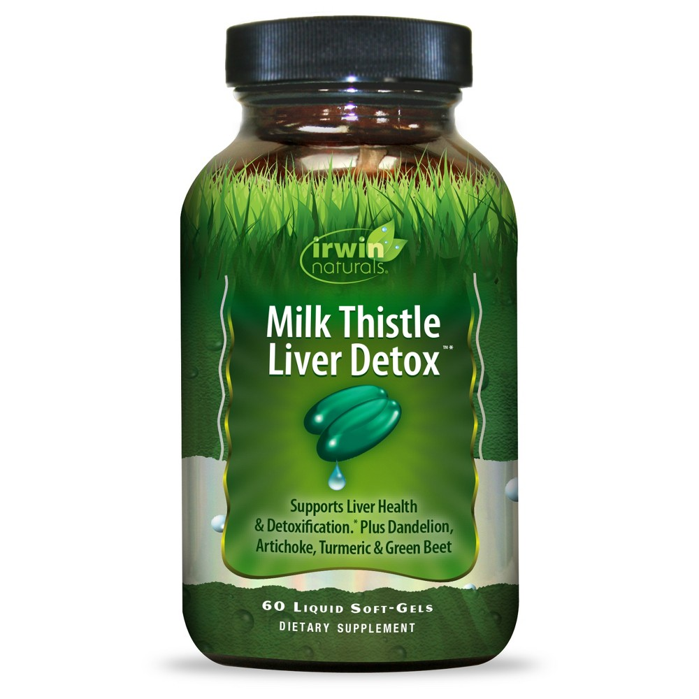 Irwin Naturals Milk Thistle Liver Detox Dietary Supplement Softgels - 60ct