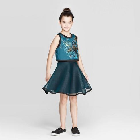 Girls' Descendants 3 Uma Cosplay Dress - Green XL