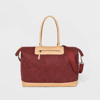 Zip Closure Weekender Bag - Universal Thread™ Dark Fuchsia