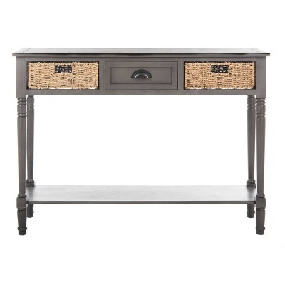 Caguas Console Table with Baskets Gray - Safavieh