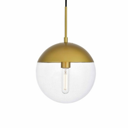 """Elegant Lighting LD6037 Eclipse Single Light 10"""" Wide Pendant with Clear Glass - image 1 of 3"""