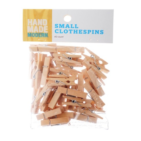 Small Clothespins 40ct Hand Made Modern Target