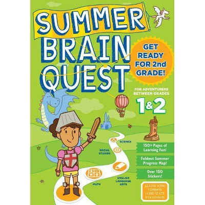 Summer Brain Quest : Between Grades 1 & 2 (Paperback) - by Megan Butler