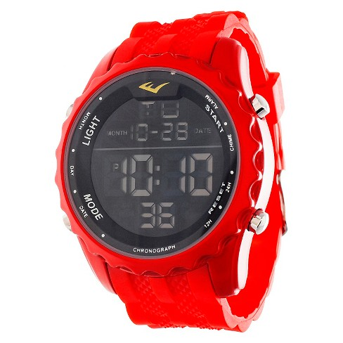 Men's Everlast™ Digital Watch - Red - image 1 of 2