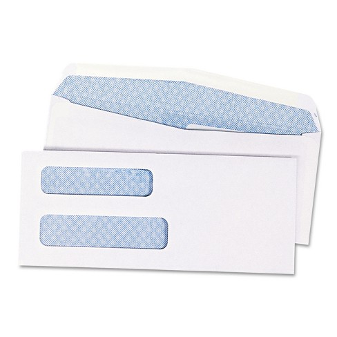 Quality Park Double Window Security Tinted Check Envelope #8 5/8 White 1000/Box 24532B - image 1 of 4