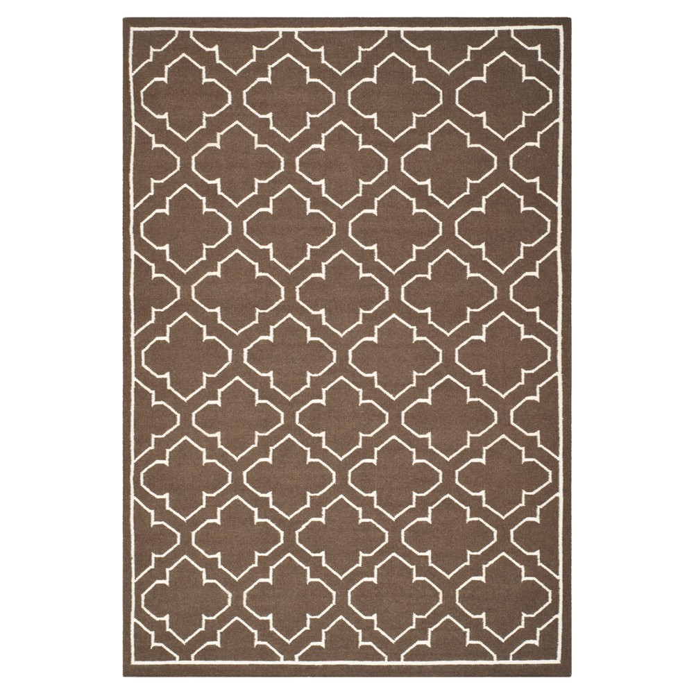 Marseille Dhurrie Area Rug - Brown / Ivory (5' X 8') - Safavieh
