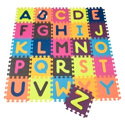 B. toys Alphabet Foam Floor Puzzle - Beautifloor 26pc