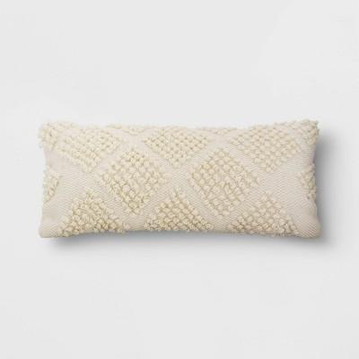 Decorative Throw Pillow Looped Diamond Cream - Threshold™