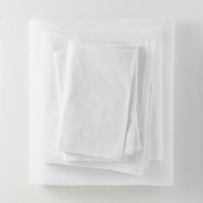 Queen Jersey Solid Sheet Set White - Casaluna™