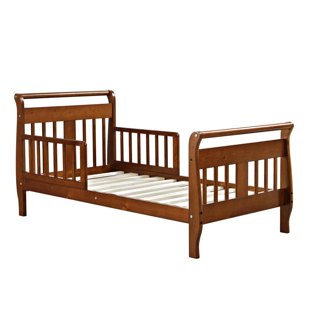Image of Baby Relax Apollo Sleigh Toddler Bed Walnut, Brown
