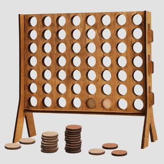 Refinery Wooden Tabletop 4 in-a-row Game
