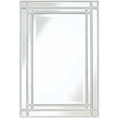 "Noble Park Ravalli Silver 23"" x 34 1/4"" Beaded Wall Mirror"