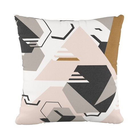Block Geo Square Throw Pillow Pink - Cloth & Co. - image 1 of 4