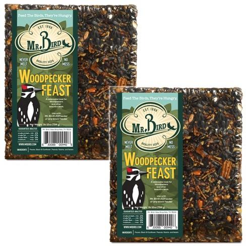"Home & Garden 7.25"" Woodpecker Feast Large Cakes Set / 2 Bird Feed No Mess Mr Bird  -  Bird And Wildlife Food - image 1 of 3"