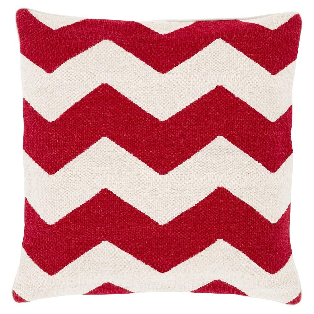 Poppy Arzamas Chevron Throw Pillow 22