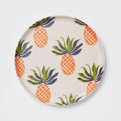 "8"" Melamine and Bamboo Pineapple Salad Plate - Opalhouse™"