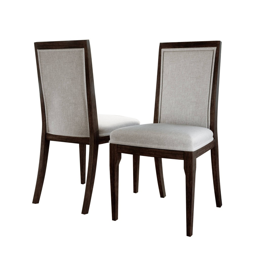Cami Upholstered Dining Chair (Set of 2) Brown - Abbyson Living