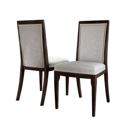 Cami Upholstered Dining Chair (Set of 2) Brown - Abbyson Living - image 1 of 5