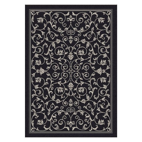 "Vaucluse Rectangle 6'7"" X 9'6"" Outdoor Rug - Black / Sand - Safavieh® - image 1 of 1"