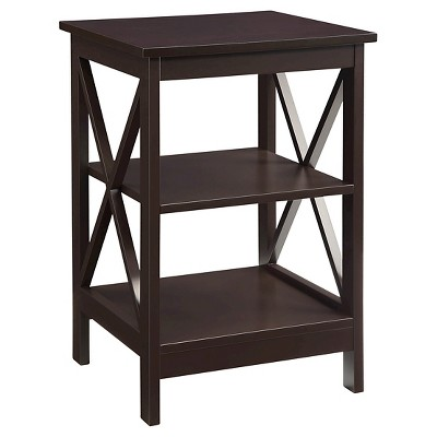 Oxford End Table Espresso - Espresso - Convenience Concepts
