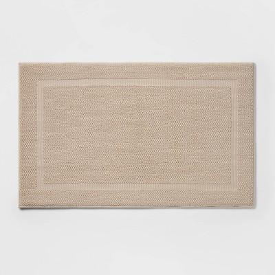"23""x37"" Performance Texture Cotton Memory Foam Bath Rug Tan - Threshold™"