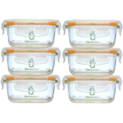 Sage Spoonfuls Tough Glass Tubs