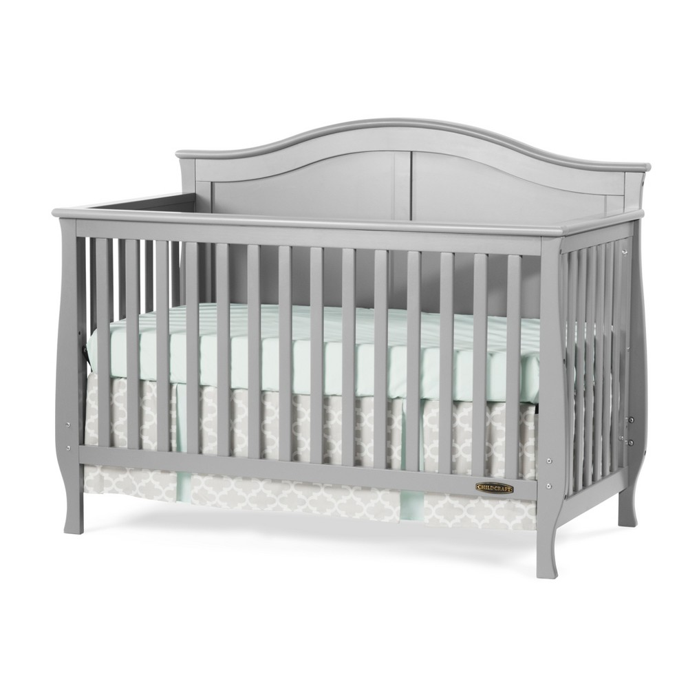Image of Child Craft Camden 4-in-1 Convertible Crib - Cool Gray