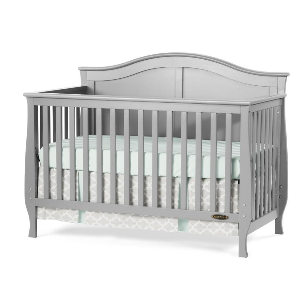 Child Craft Camden 4-in-1 Convertible Crib - Cool Gray