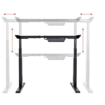 Monoprice Height Adjustable Sit Stand Riser Table Desk Frame   Black With  Electric Dual Motor, Compatible With Desktops From 43 Inches Up To 87 Inches