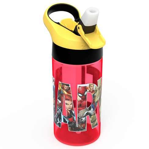 Marvel Zak Designs 17.5oz Plastic Water Bottle Red/Yellow - image 1 of 3