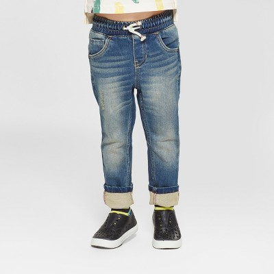 Toddler Boys' Pull-On Skinny Jeans - Cat & Jack™ Denim Blue 18M