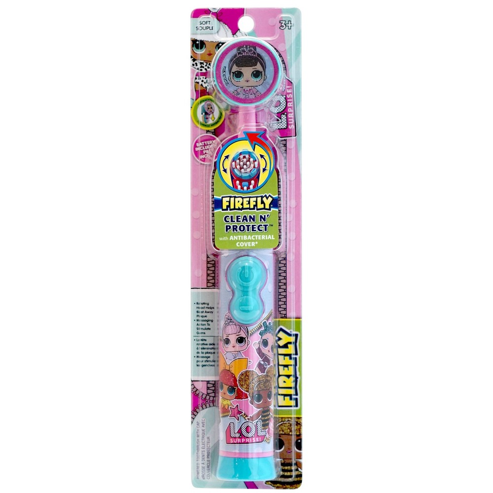 Image of Firefly L.O.L. Surprise! Clean 'N' Protect Toothbrush with Anti-Bacterial Cover - 1ct