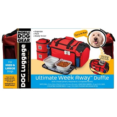 Overland Travelware - Dog - Ultimate Week Away Duffel - Red