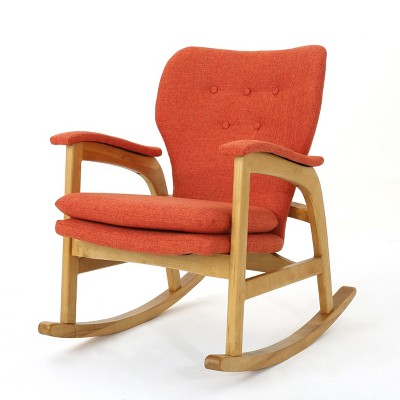 Braant Mid Century Rocker Muted Orange - Christopher Knight Home