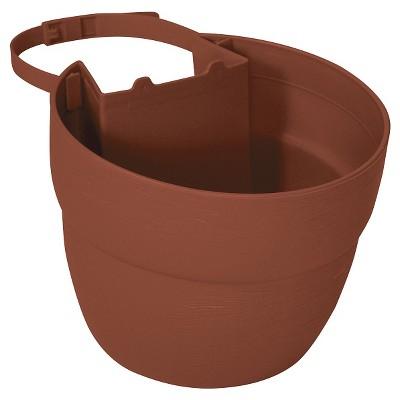 "6"" Emsco Resin Post Planter Brown"