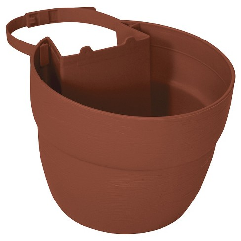 "6"" Emsco Resin Post Planter Brown - image 1 of 3"
