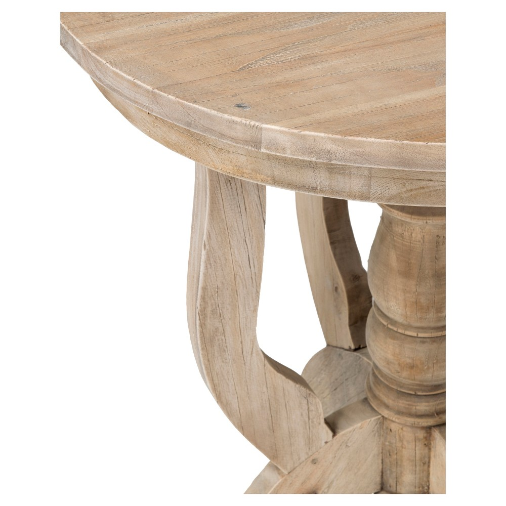 Boyd Rubberwood Round Accent Table - Brown - East At Main