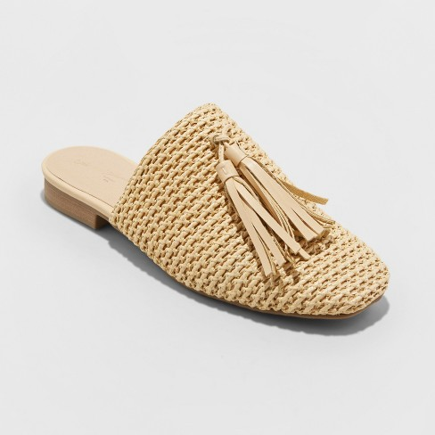 Women's Esther Mules - Universal Thread™ Tan - image 1 of 3