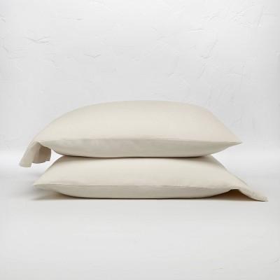 Standard 100% Linen Solid Pillowcase Set Natural - Casaluna™