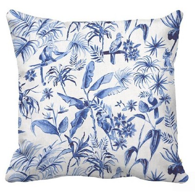 Square Printed Pillow Blue/White - Threshold™