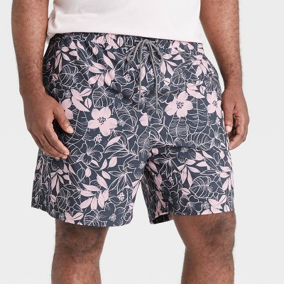 "Men's Big & Tall 7"" Floral Print Swim Trunks - Goodfellow & Co™ Pink"