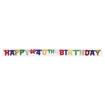 40th Birthday Party Banner