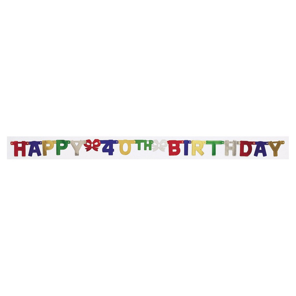 40th Birthday Party Banner, Multi-Colored