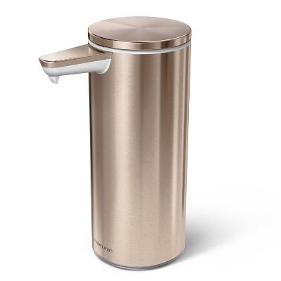 simplehuman 9oz Rechargeable Stainless Steel Sensor Pump Rose Gold