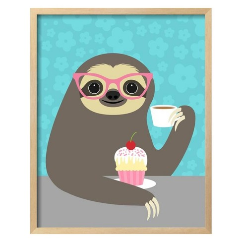 Diva Sloth by Nancy Lee Framed Art Print - Art.com - image 1 of 3